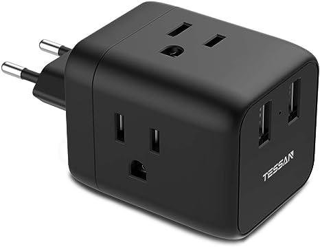 Amazon.com: TESSAN - Adaptador de corriente para Europa y ...