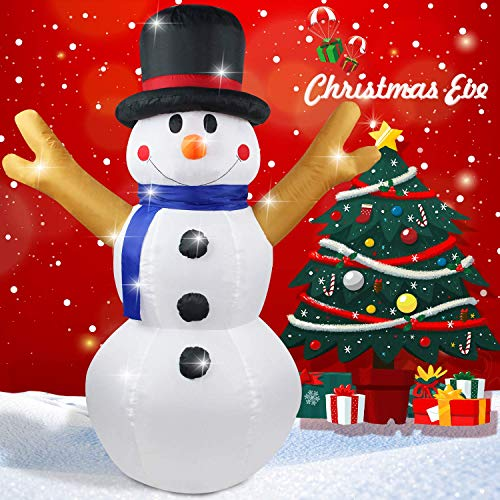 Christmas Inflatable 4 FT Snowman Xmas Lighted Blow-Up Airblown Inflatable for Yard Party Decoration