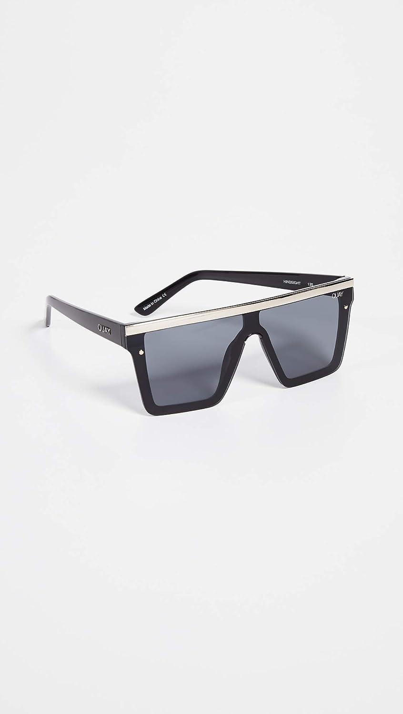a4497d3792 Amazon.com  Quay Women s Hindsight with Gold Bar Sunglasses