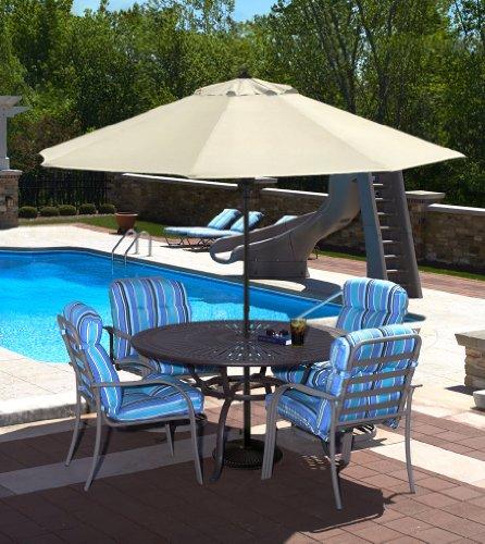 9 Ft (Auto-Open) Patio Pool Umbrella - Champagne