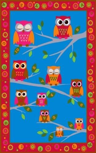 Kid Carpet FE725-44A Hoot Hoot Nylon Area Rug 7'6 x 12' Multicolored [並行輸入品]   B07HLFY2RN