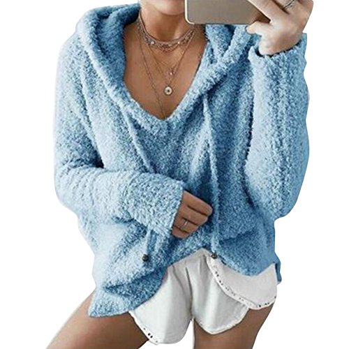 Femmes Longues Chemise Juleya Occasionnel Manches Tops Femmes Pulls Blouse Tops Bleu Velours Lache 6dd4qw
