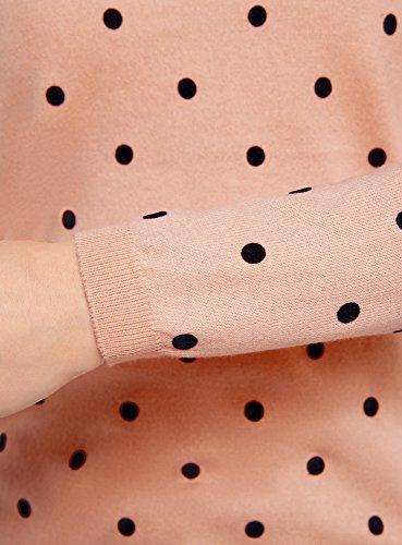 oodji Ultra Mujer Jersey Recto con Cuello Redondo Rosa (4029D)
