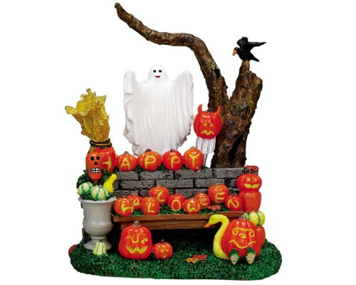 Lemax Spooky Town Village Halloween Pumpkin Greeting Table Piece #73604 -