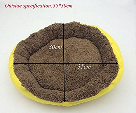 Amazon.com: BOSUN(TM) Candy Color Small Puppy Dog Bed Soft Fleece Warm Round Chihuahua Dog Bed Indoor Oxford Bottom Pet Dog Cushion Camas Para Perros: Home ...