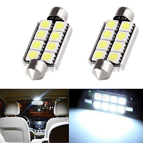 cciyu 2x White 6000K 31mm Festoon LED Bulbs 2835 8SMD Replacement fit for Dome Map Light Bulbs DE3175 3021 3022 Bulbs 990576-5210-1339584