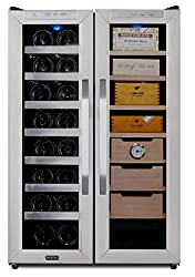 Whynter Cwc-351dd Freestanding Wine Cooler & Cigar Humidor Center, 3.6 Cu. Ft, Stainless Steelblack