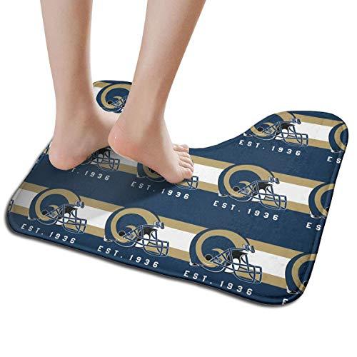 - Jacoci Custom Los Angeles Rams Toilet Doormat Non Slip Floor Door Mat Bath Rug for Bathroom Decor Standard Size 19.3 x 15.7 Inches