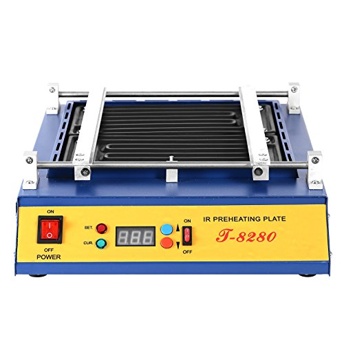 - VEVOR Preheating Oven T8280 1600W Infrared Preheating Station Hot Plate PCB Preheater 280x270MM