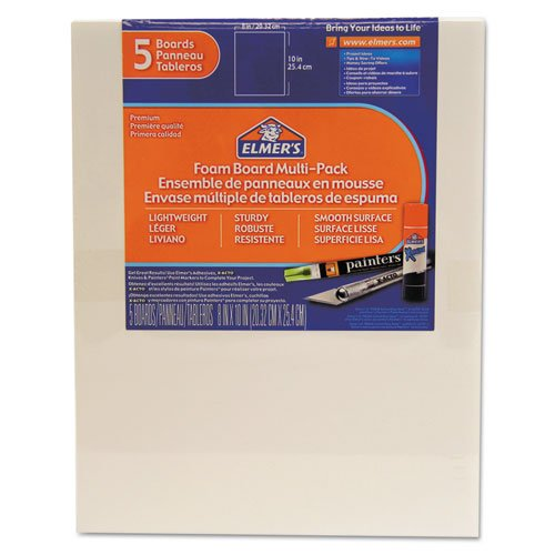 EPI950020 - White Pre-Cut Foam Board Multi-Packs by Elmer's