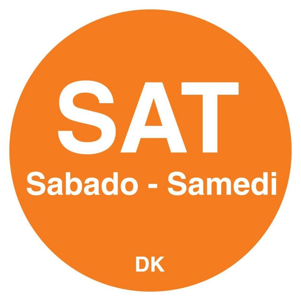 DayMark 1100596 Trilingual 3/4'' Saturday Day Circle - 2000 / RL
