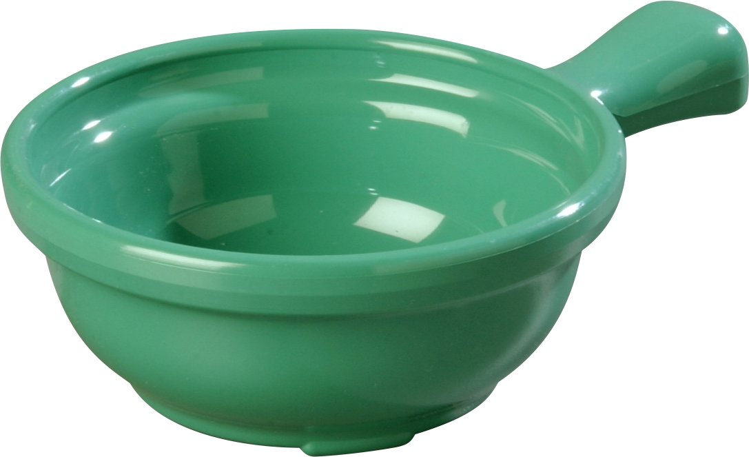 Pack of 24 Carlisle 700614 Plastic Handled Soup Bowl Ocean Blue Carlisle FoodService Products 7006-14 8 oz