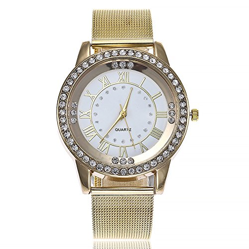 WANQUIY Womens Quartz Watch with Stainless-Steel Marble Strap Casual Metal GIF Wrist Watch for ()