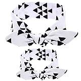 Leiwo Mutter Und Mir Grauen Haarreifen Haarschleife Gesetzt Stirnband Boho Baby Headwrap Geknotet (White triangle)