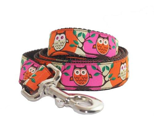 Lola & Foxy Pink Owl Dog Lead, 5-Feet