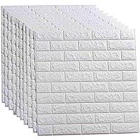 ملصق ورق حائط ثلاثي الابعاد من 20 قطعة - 116 قدم مربع ذاتي الالتصاق بنمط الواح ورق حائط لاصقة مقاومة للماء من فوم البولي…