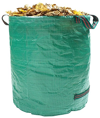 26 Gallon Trash Bags (AP Garden Bag, Gardening Bag 26 Gallons Collapsible and Reusable Gardening Containers Garden Leaf Waste Bag for Lawn and Leaf (26 Gallon))