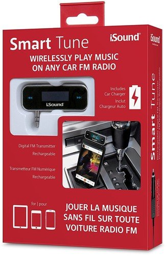 iSound Smart Tune 2 in 1 - Wireless FM Transmitter with Rechargeable Battery & included Car Charger by iSound