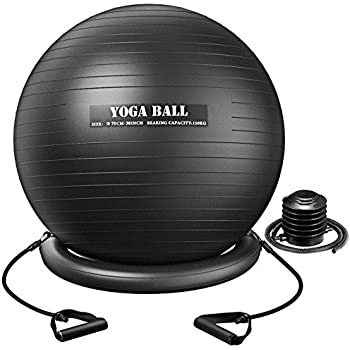Amazon.com: SoAlpha Premium Exercise Ball with 15LB ...