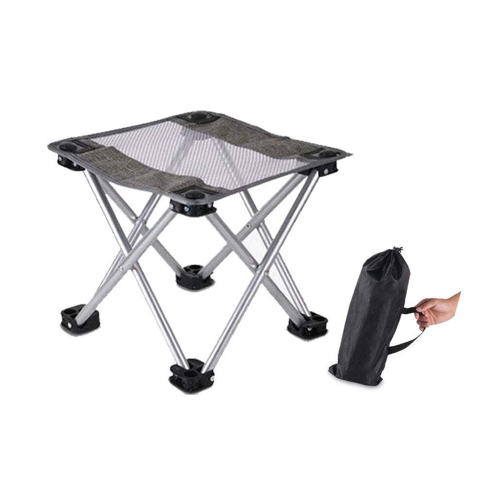 Folding Camping Stool,Portable Fishing Stool Chair, Lightweight 1.2lbs Outdoor Slacker Chair for Backpacking, Hiking, BBQ, Picnic, Travel. 330lbs Capacity with Carry Bag