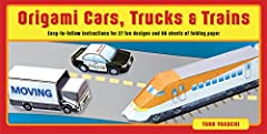 Make fun paper model vehicles with this easy origami kit.Origami Cars, Trucks & Trains Kit is the boxed paper craft kit that brings all the favorite modes of transportation to the world of origami design. Fast, noisy and enormous in real-...