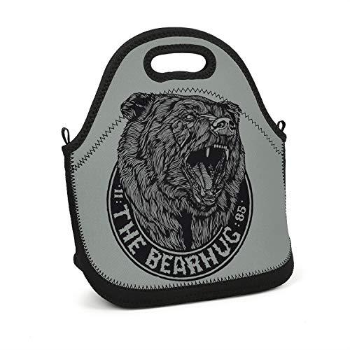 The bearhug 11 85 Black Bear Sign pet Modernlunch Handbag Easy to Dry Portable Meal Package Trendy Lunch Bag for Girls Boys Men Women Kids from gjsrt