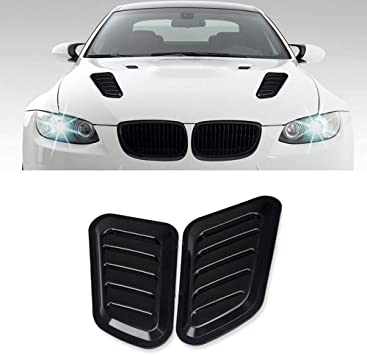 2X Universal ABS Car Hood Side Air Intake Flow Vent Cover Decorative Stick