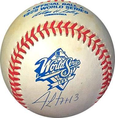 Jim Leyritz Signed Baseball - Rawlings Official 1999 World Series Logo #13 Hologram #EE41815) - JSA Certified (New York Yankees World Series Championships 1999)