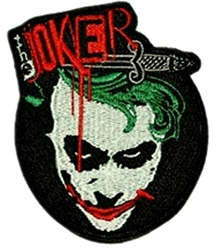 InspireMe Family Owned DC Comics (Batman) Joker Why So Serious Logo Embroidered Sew/Iron-on Patch/Appliquees 4