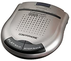 Conair TAD2012 Call Keeper Digital Answering System - Metallic Silver