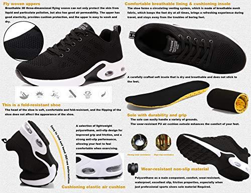 GNEDIAE Deportivas Zapatos Running Montaña Libre para Mujer y Asfalto Malla Zapatillas Aire Casuales 819 Senderismo Transpirable Deportes Negro Correr y de gqwAgIrBx