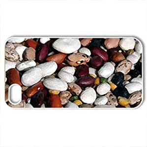 Beans - Case Cover for iPhone 4 and 4s (Watercolor style, White)