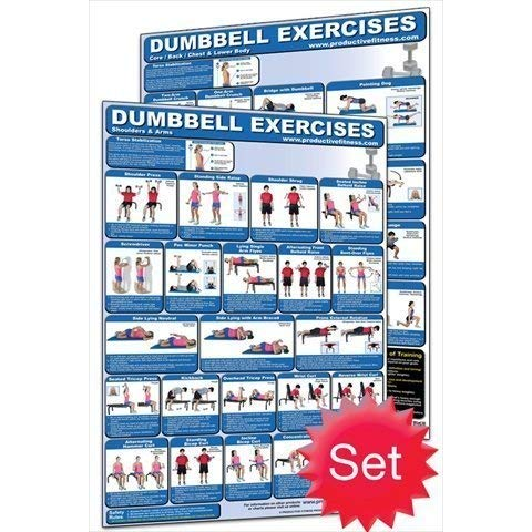 Productive Fitness Dumbbell Poster Set - Laminated Only
