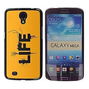 TECHCASE**Cubierta de la caja de protección la piel dura para el ** Samsung Galaxy Mega 6.3 I9200 SGH-i527 ** LIFE