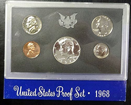 1968 S US Proof Set Original Government Packaging - Half Dollar Us Silver Coin