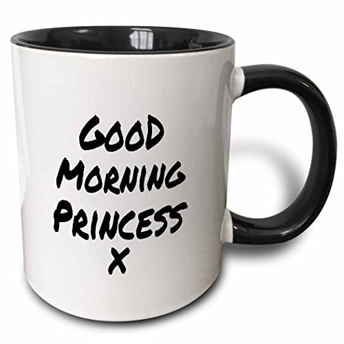 3dRose 195580_4 Morning Princess X-Nice Way to Start Your Day-Feel Good Note