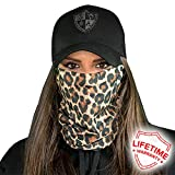 SA Company Face Shield Micro Fiber Protect From Wind, Dirt and Bugs. Worn as a Balaclava, Neck Gaiter & Head Band For Hunting, Fishing, Boating, Cycling, Paintball and Salt Lovers. - Cheetah