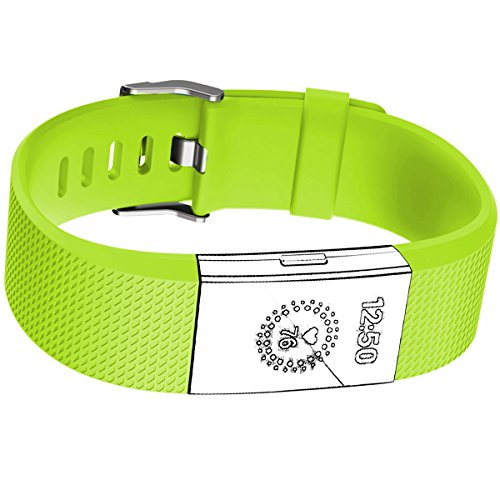 Band for Fitbit Charge Hr 2, Green Yellow, Large - Hr Womens Green