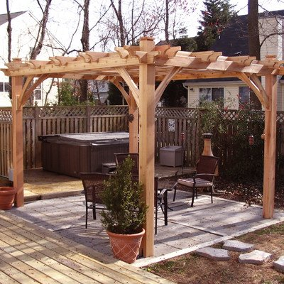 Breeze Pergola Size: 8' W x 10' D (Breeze Pergola)