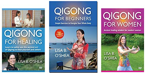 Qigong for Beginners DVD Bundle: 3 Qigong DVDs by Lisa O'Shea (YMAA) Beginner Qigong for Healing, and for Women - MIRROR-VIEW Exercises **New Bestseller**