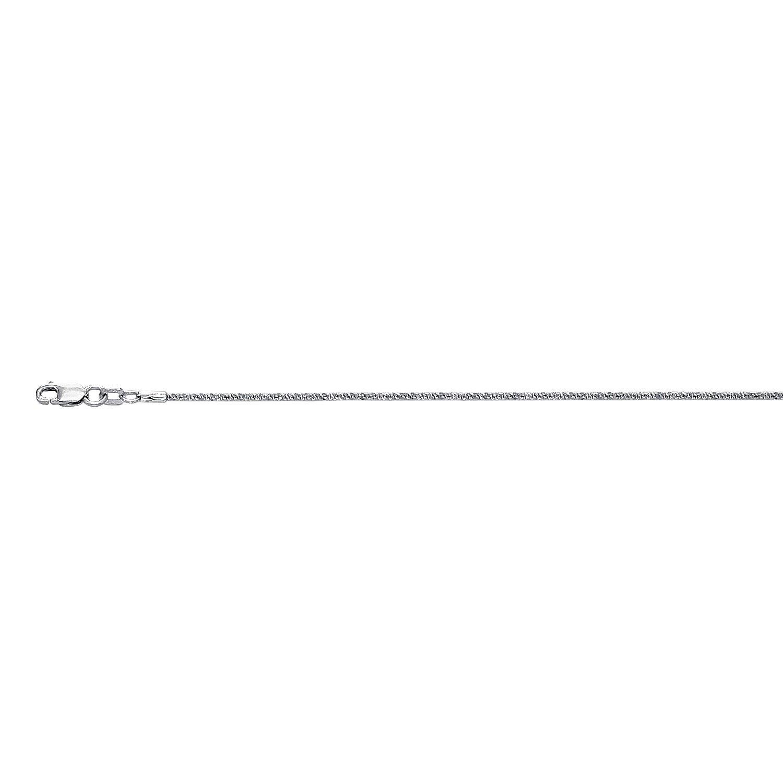 IcedTime 10K White Gold Sparkle Chain 16 inch long