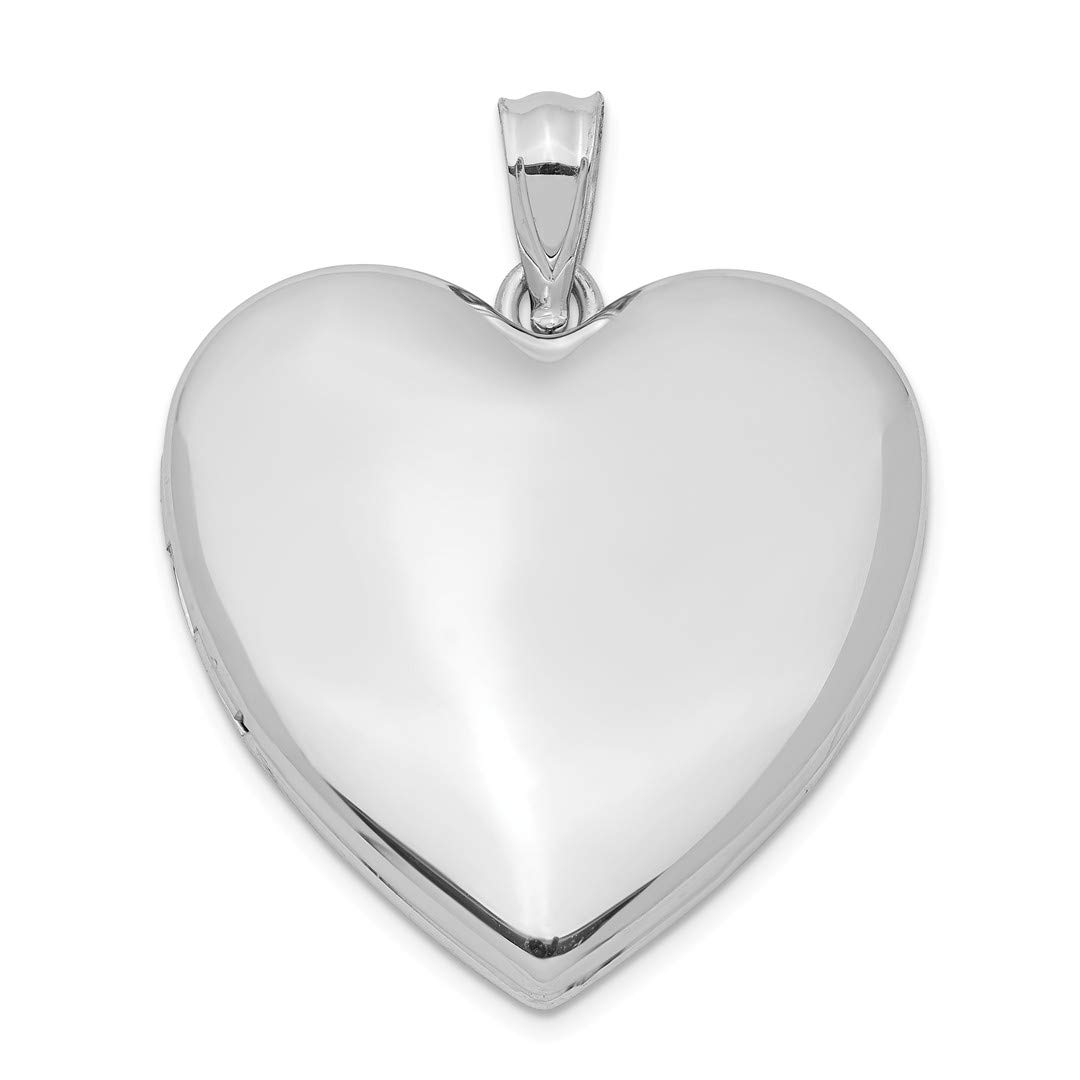 ICE CARATS 925 Sterling Silver 24mm Plain Heart Photo Pendant Charm Locket Chain Necklace That Holds Pictures Fine Jewelry Ideal Gifts For Women Gift Set From Heart