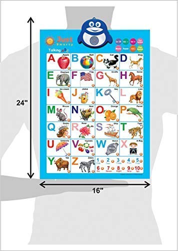 Just Smarty Electronic Interactive Alphabet Wall Chart, Talking ABC & 123s & Music Poster, Best Educational Toy for Toddler. Kids Fun Learning at Daycare, Preschool, Kindergarten for Boys & Girls by Just Smarty (Image #6)