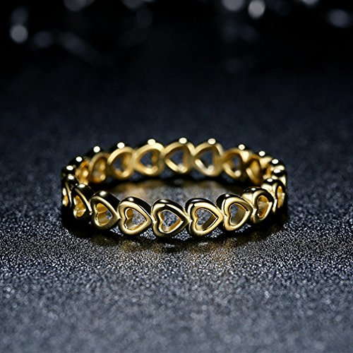 Everbling Linked Love 925 Sterling Silver Stackable Ring by Everbling (Image #1)'