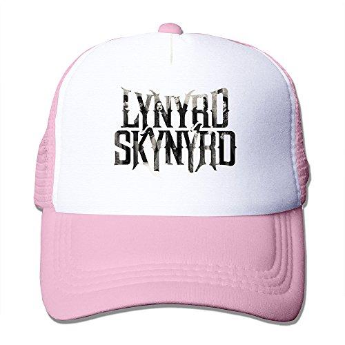 TIKE Unisex Adjustable Lynyrd Menbers Skynyrd Trucker Cap Cap Hats Mesh Back Pink