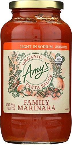 Amy's Pasta Sauces, Light in Sodium Organic Family Marinara Pasta Sauce, 25.5 Ounce
