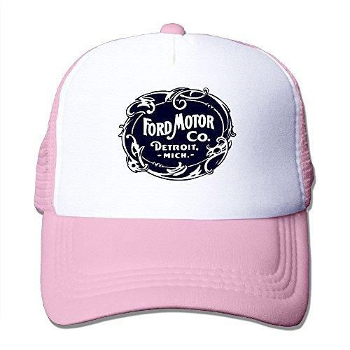 ZhiqianDF Momen's Vintage Ford Motor Company Detroit Retro Cool Fashion Travel Pink Mesh Caps Adjustable - Lauren Polo Sun Ralph Visor