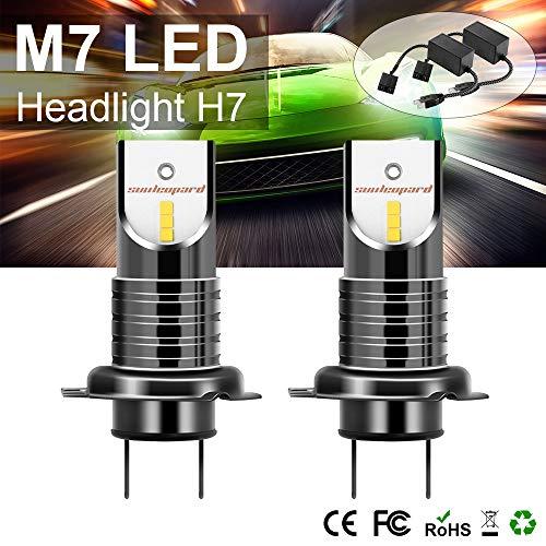 XCSOURCE 2PCS M7 H7 LED Headlight Bulbs Conversion Kit High/Low Beam 110W Car Driving CSP Chips Super Bright Light HeadLamp 6000K LD1742