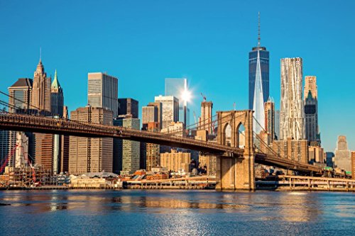 Brooklyn Bridge Manhattan New York City Skyline Photo Poster 36x24 inch