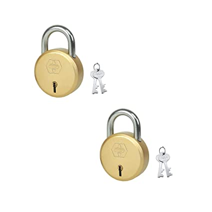 Harrison J-6 EN-0257_PK 2 Steel 5 Levers Padlock with 2 Keys (Pack of 2)
